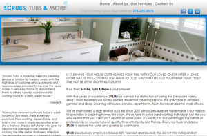 Penn Street Design - Featured Website - Scrubs, Tubs and More